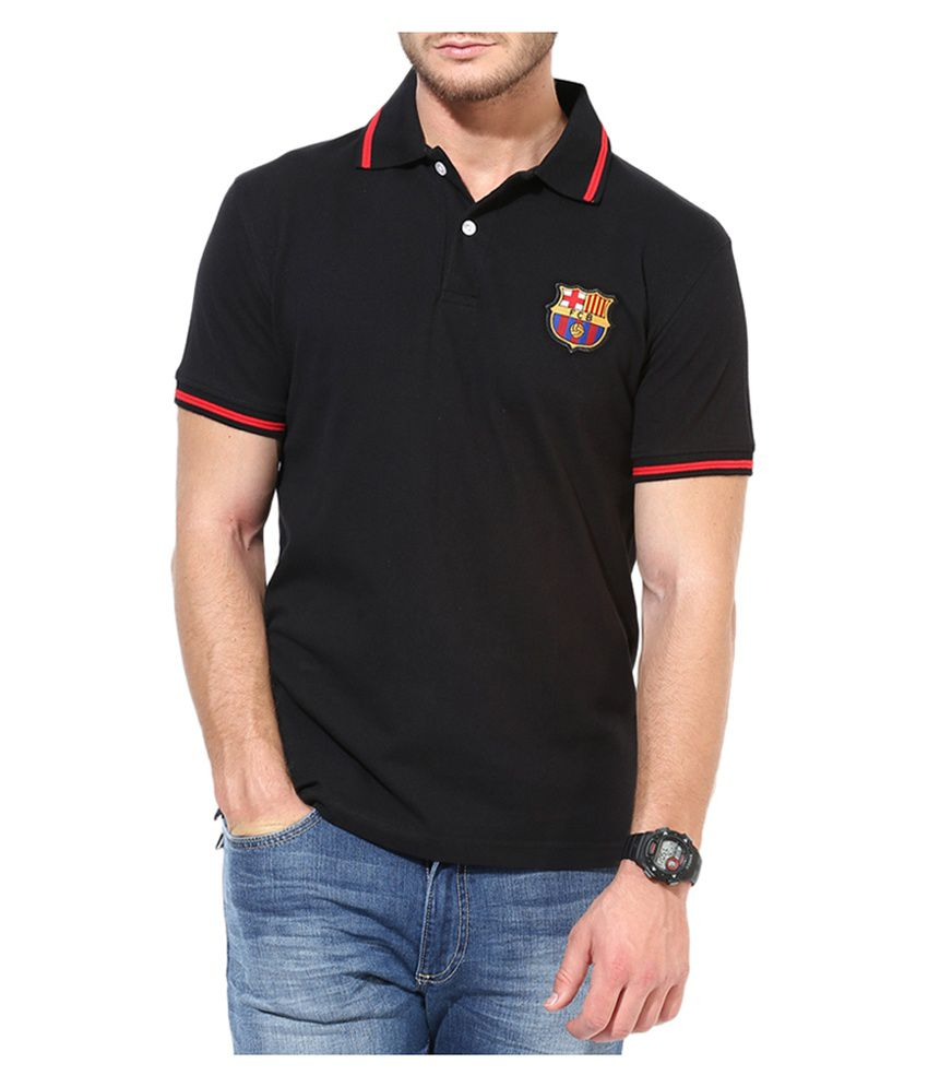 Barcelona T Shirt Mens Polo