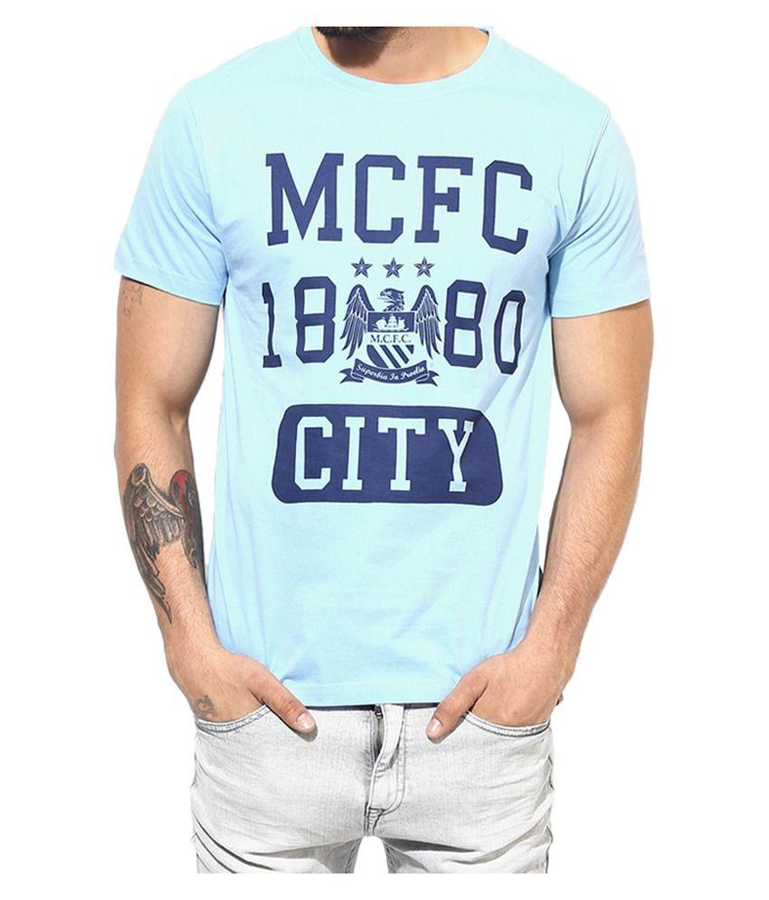 Manchester City F.C. T Shirt Mens Round Neck
