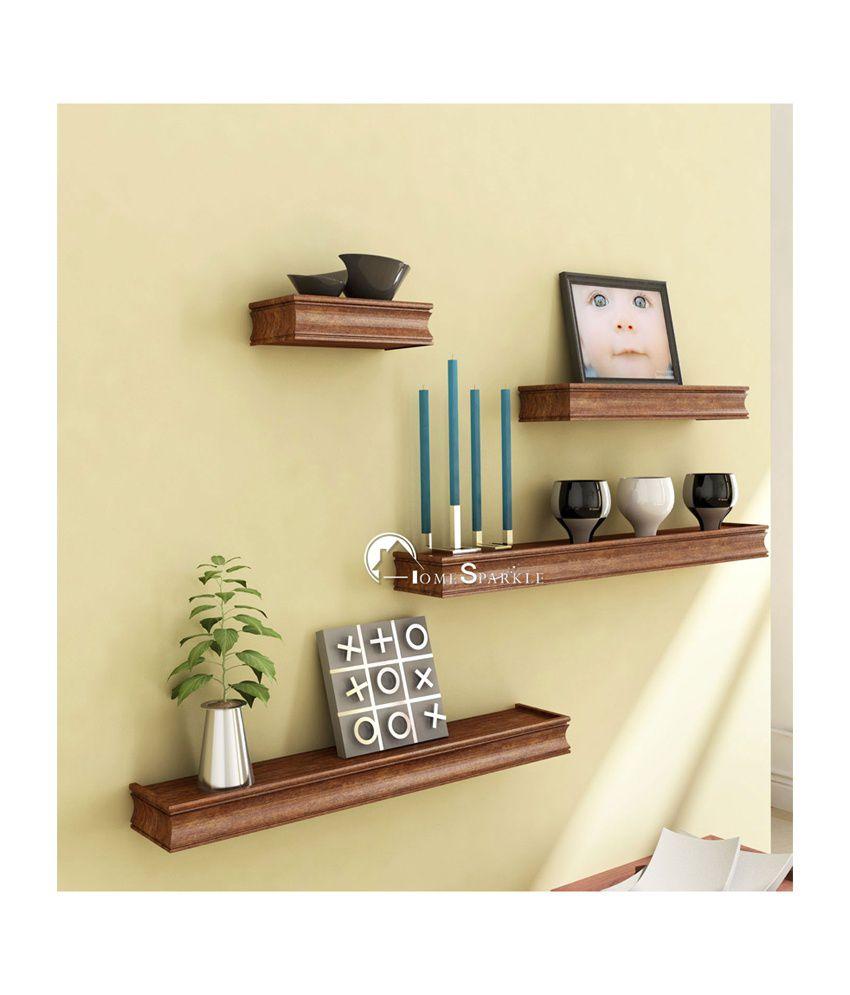 Trendy Ile Brown Floating Shelf/ Wall Shelf / Book Shelf / Storage ...