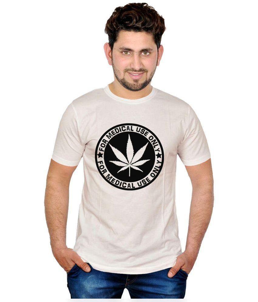 INKIT White Round T Shirt