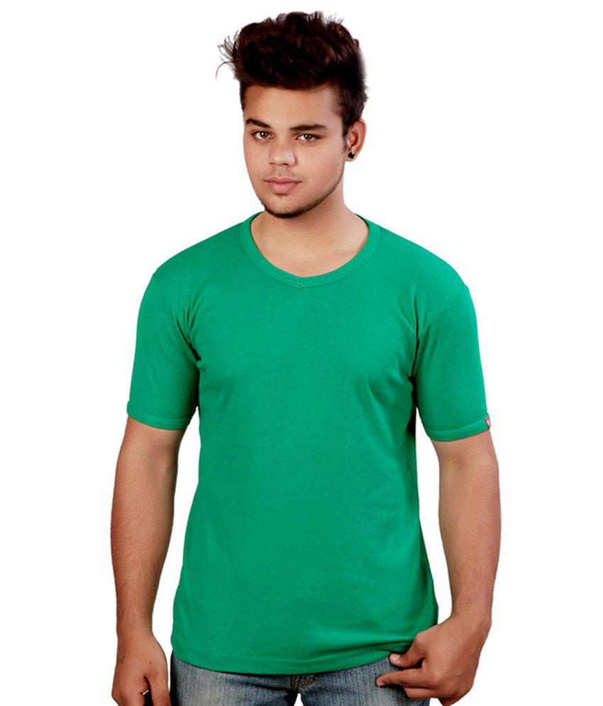 Print Own Design Green Round T Shirt