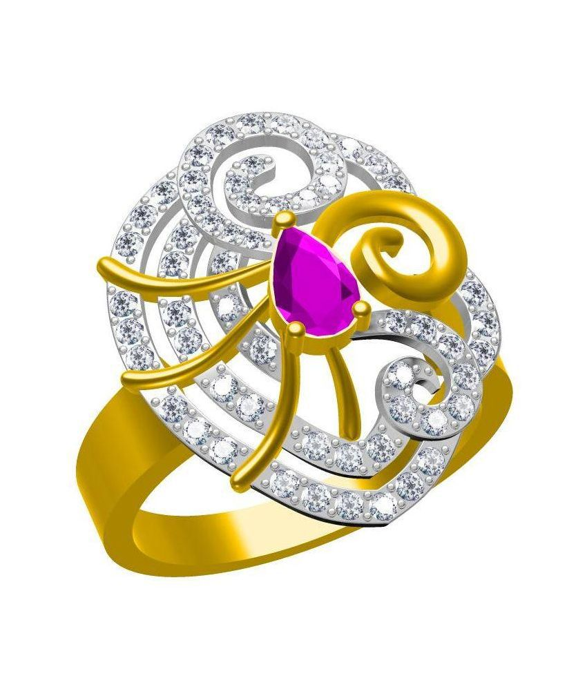 Twishas Golden Alloy Ring