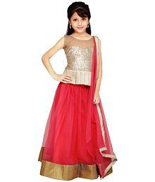 Najara Fashion Pink Net Lehenga Choli Set
