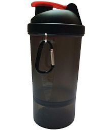 Udak Black Plastic Gym Shaker Sipper Bottle
