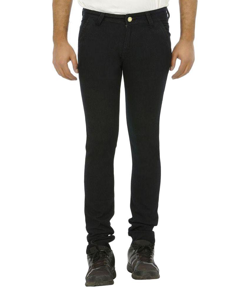 Urbano Fashion Black Slim Fit Solid Jeans