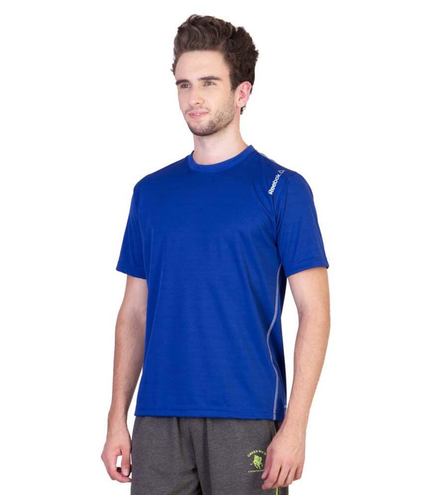 Reebok Blue Round T Shirts
