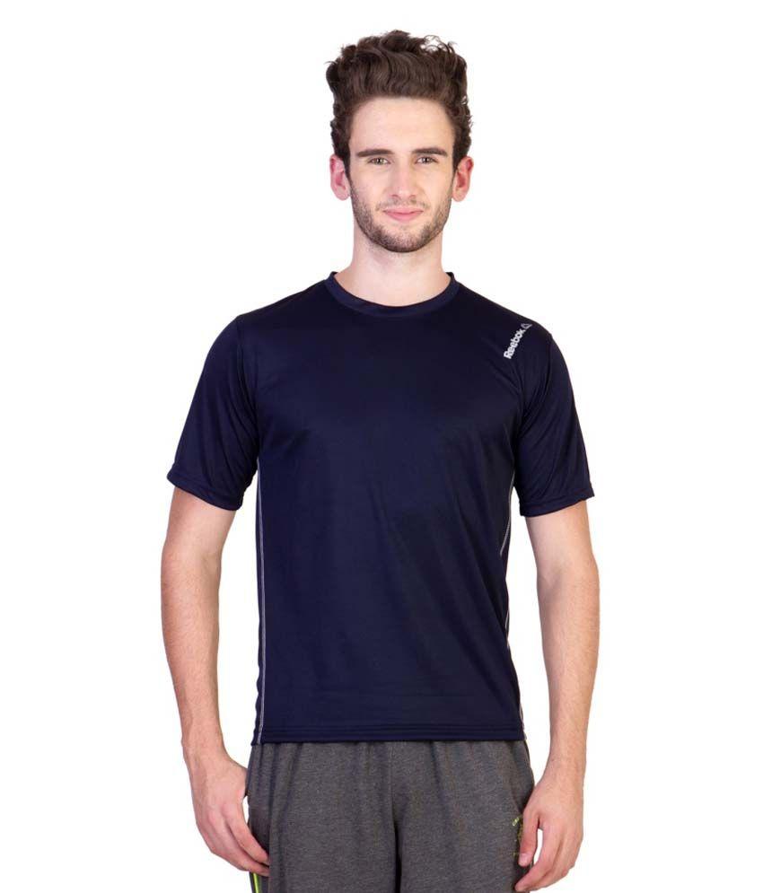 Reebok Navy Round T Shirts