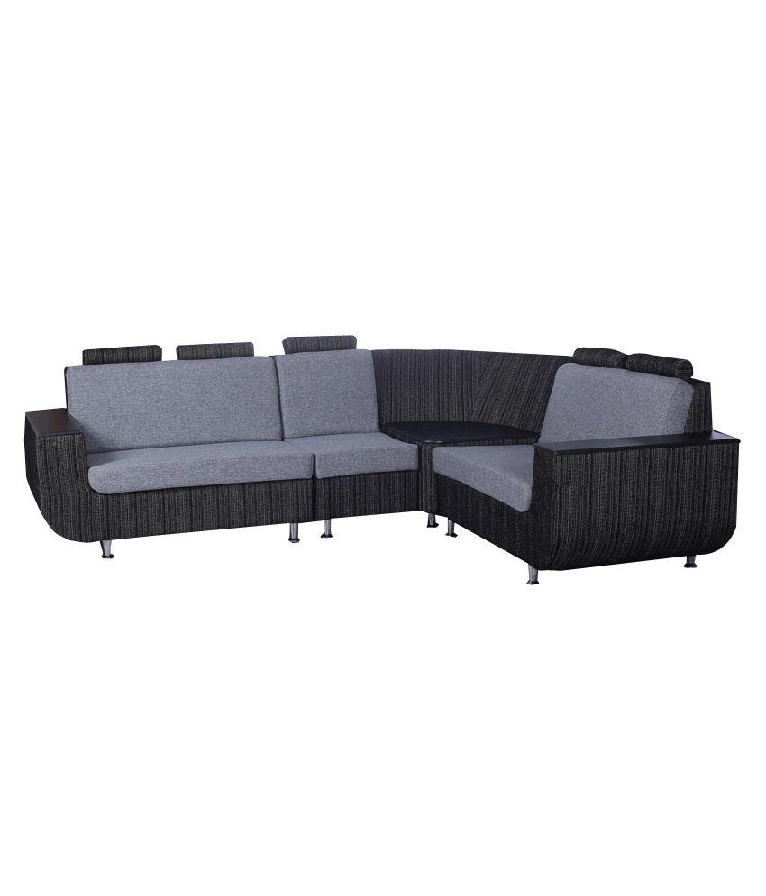 kurlon nova fabric l shape sofa buy kurlon nova fabric l shape sofa online at best prices in. Black Bedroom Furniture Sets. Home Design Ideas