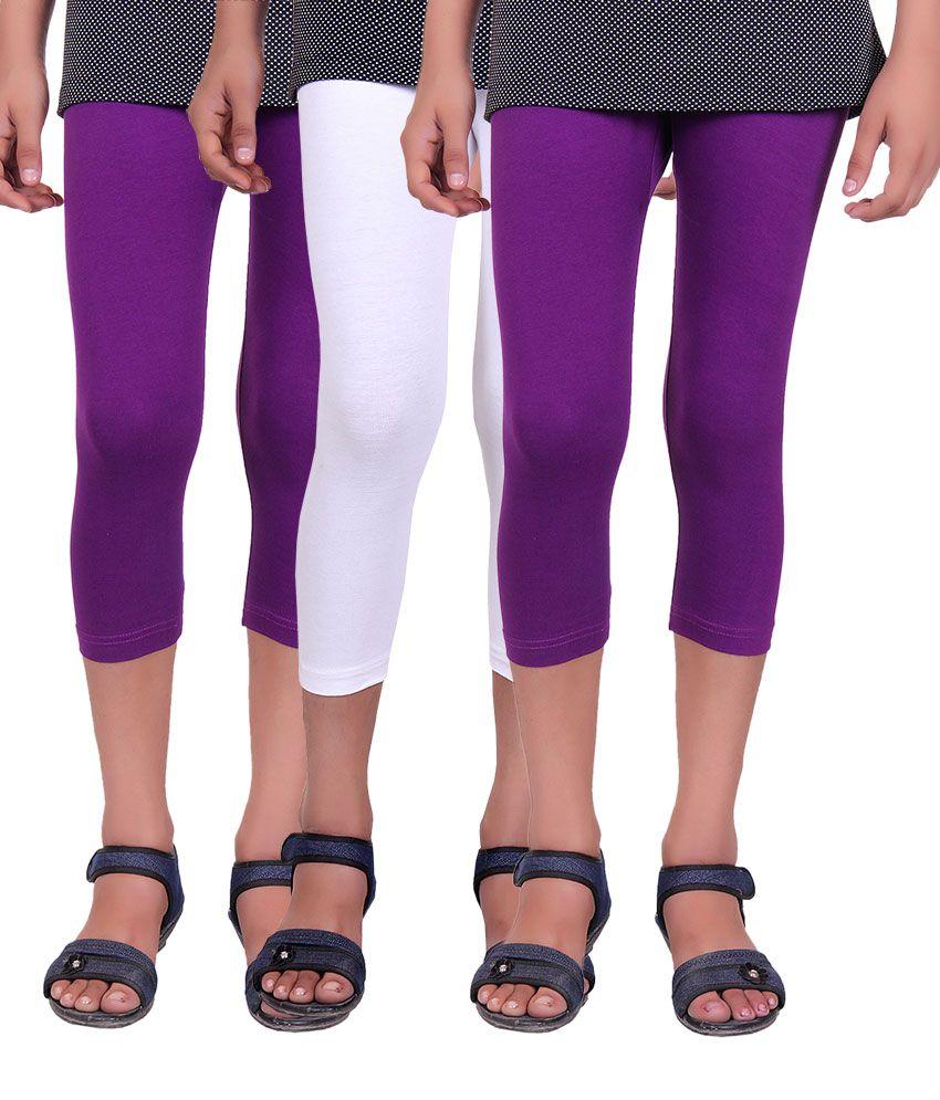 Alisha Multicolour Cotton Capri - Pack of 3