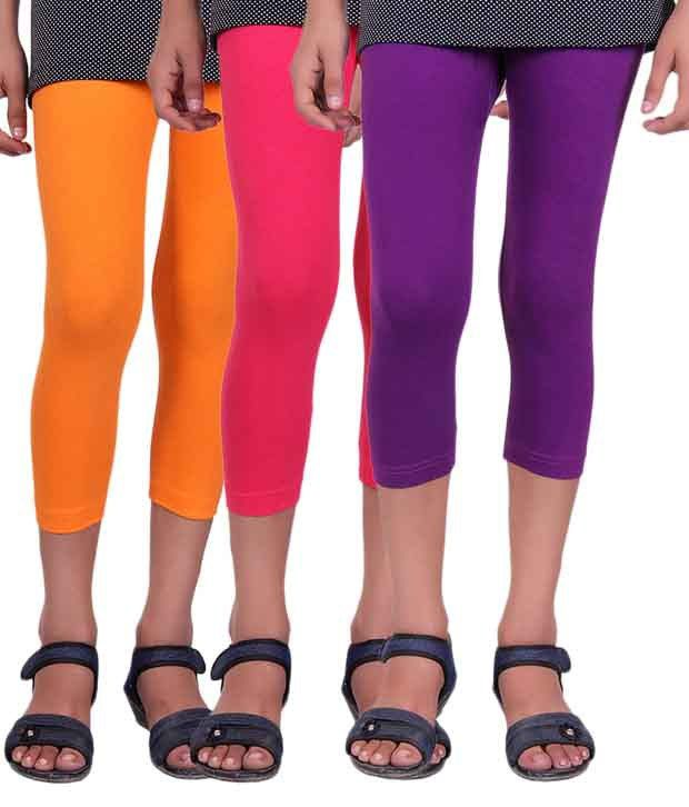 Alisha Multicolour Cotton Capri - Pack of 3