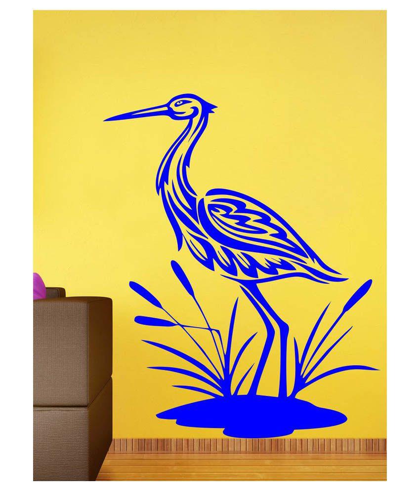 Eight2Ten Blue PVC Bagula Wall Sticker - Buy Eight2Ten Blue PVC ...