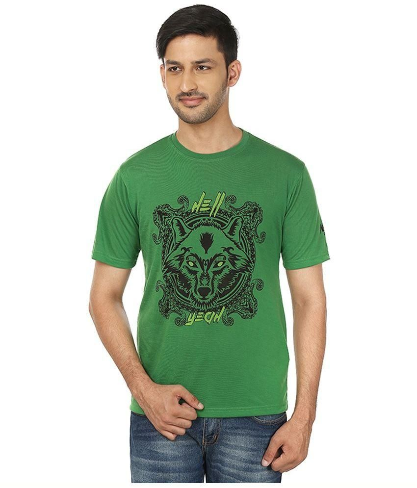 Neon Attire Green Round T Shirt