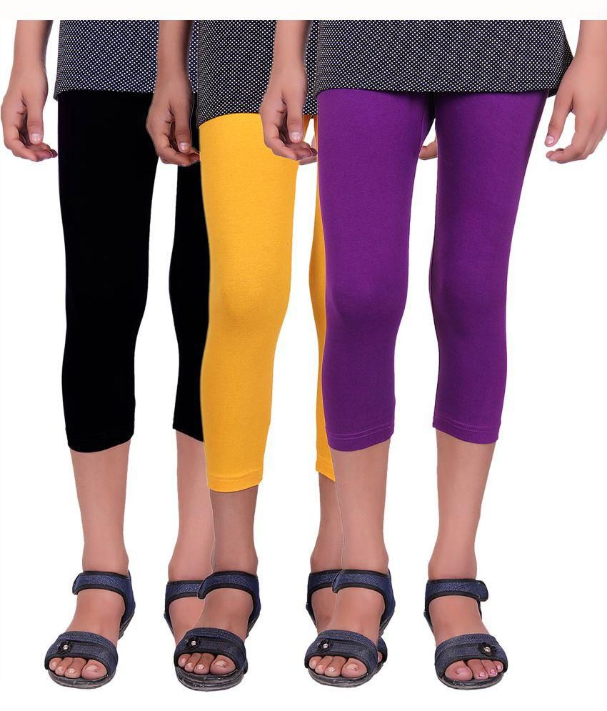 Alisha Multicolour Cotton Capri - Set of 3