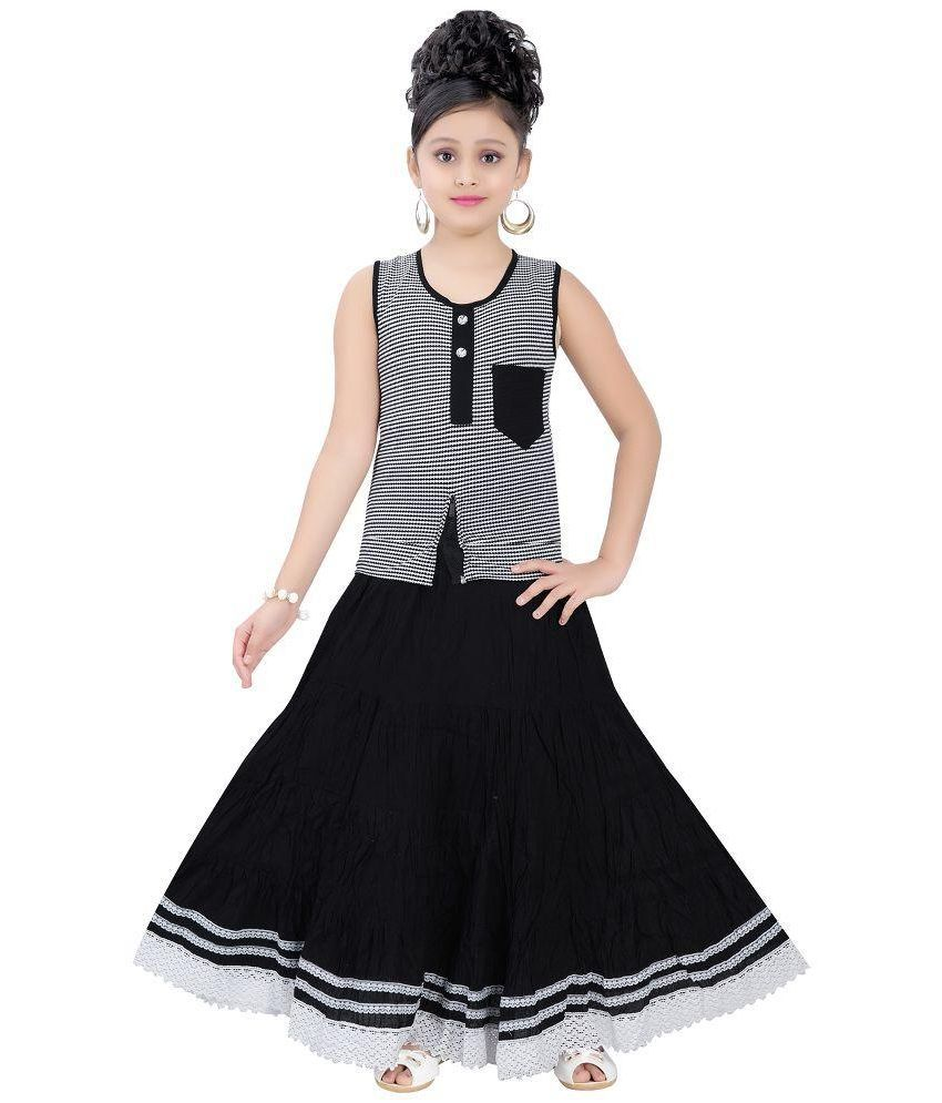 87317f5bc Saarah Black Net Top and Skirt Set for Girls - Buy Saarah Black Net Top and  Skirt Set for Girls Online at Low Price - Snapdeal