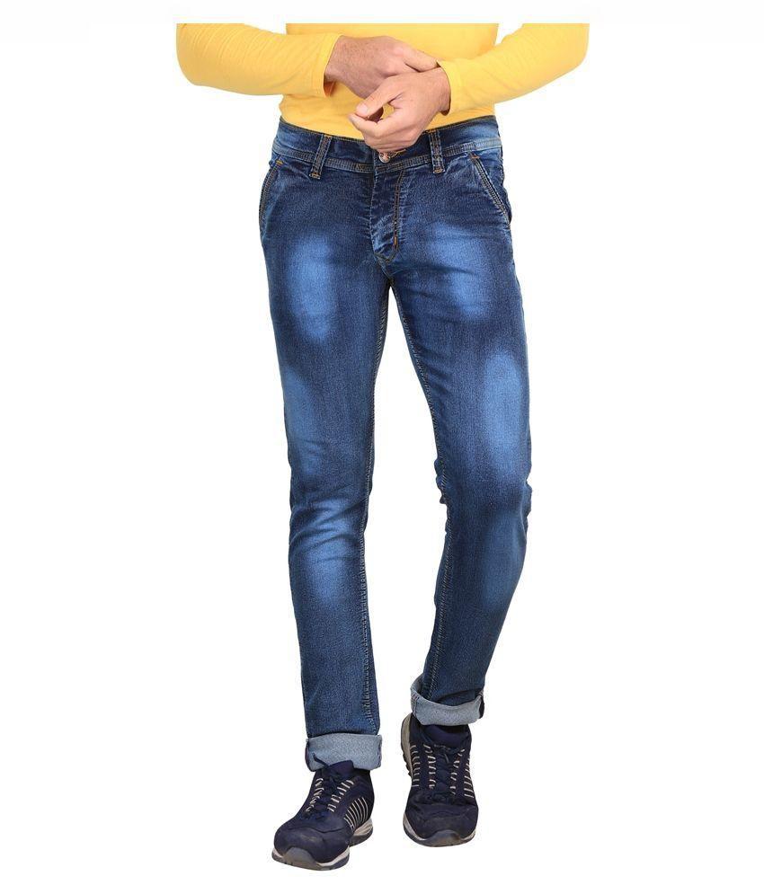 X-Cross Blue Slim Fit Faded Jeans