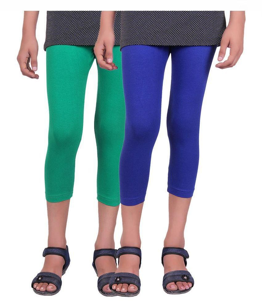 Alisha Cotton Multicolored Capri - Pack of 2
