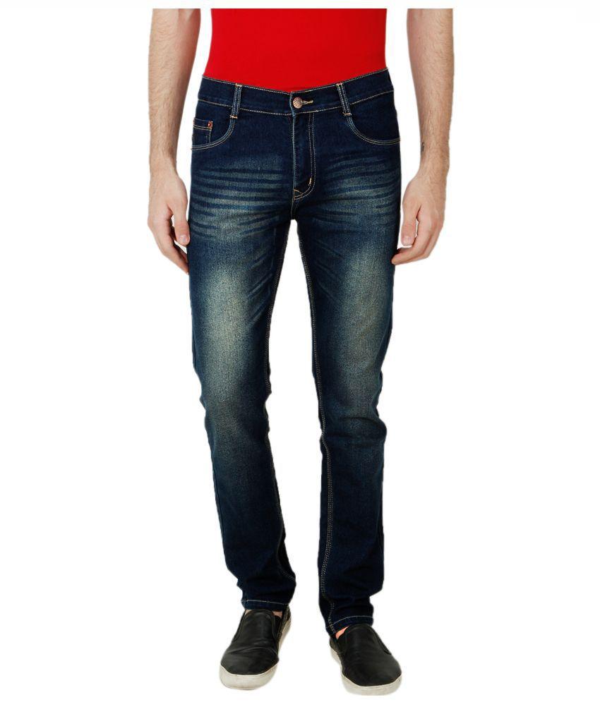 Ansh Fashion Wear Blue Regular Fit Solid Jeans