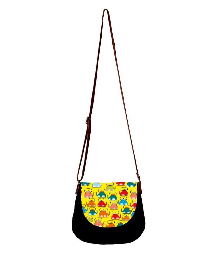 Barisa Epic Black Canvas Sling Bag