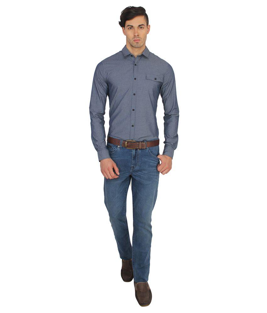23d18f136a Calvin Klein Jeans Grey Slim Fit Casual Shirt - Buy Calvin Klein ...