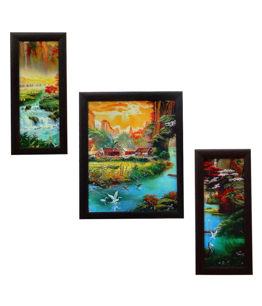 Indianara Nature's Bounty Framed Wall Art - Set Of 3 Pcs