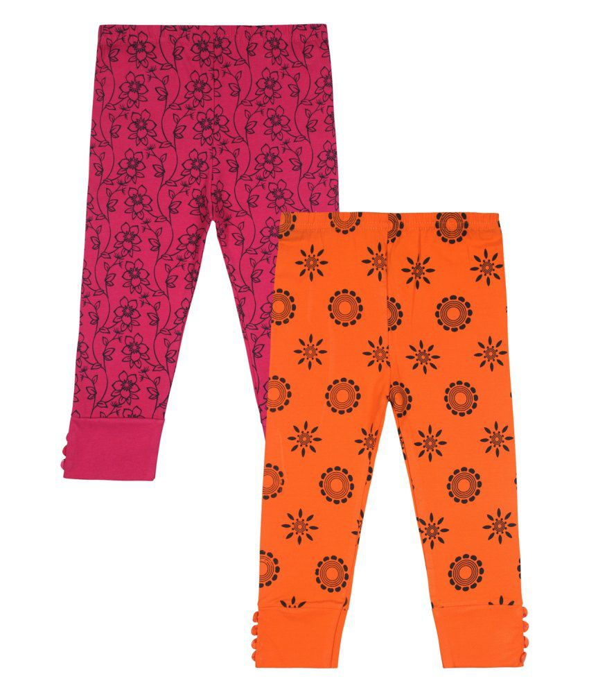 Jazzup Multicolour Cotton Blend Capris