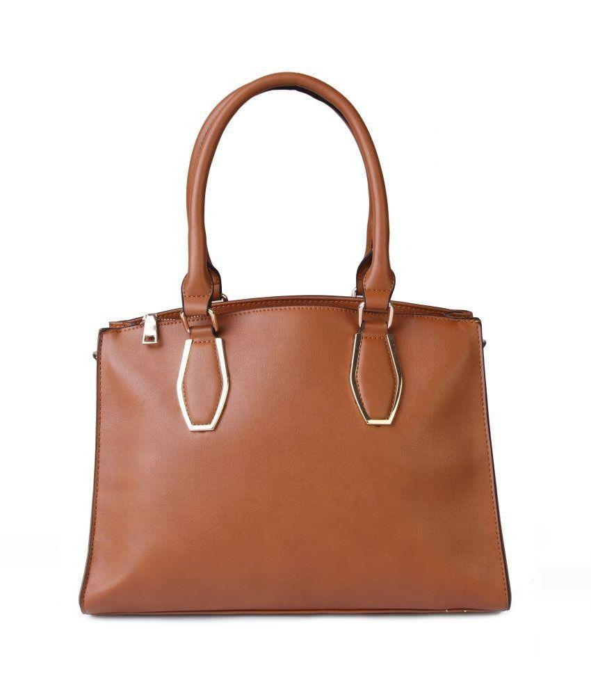Kleio Brown P.U. Shoulder Bag