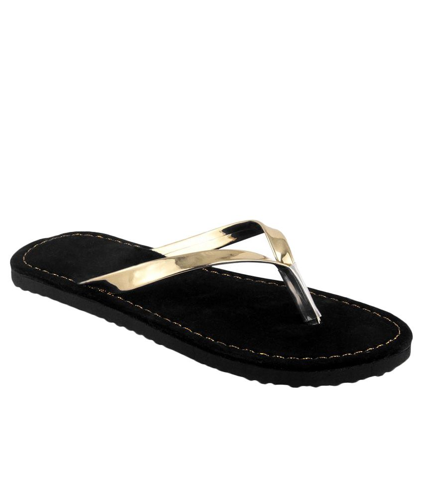 Shoe Lab Gold Flip Flops