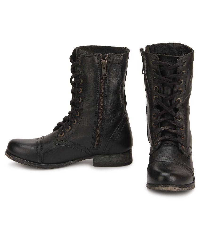 737b5bc05b0 Steve Madden Troopa Black Boots