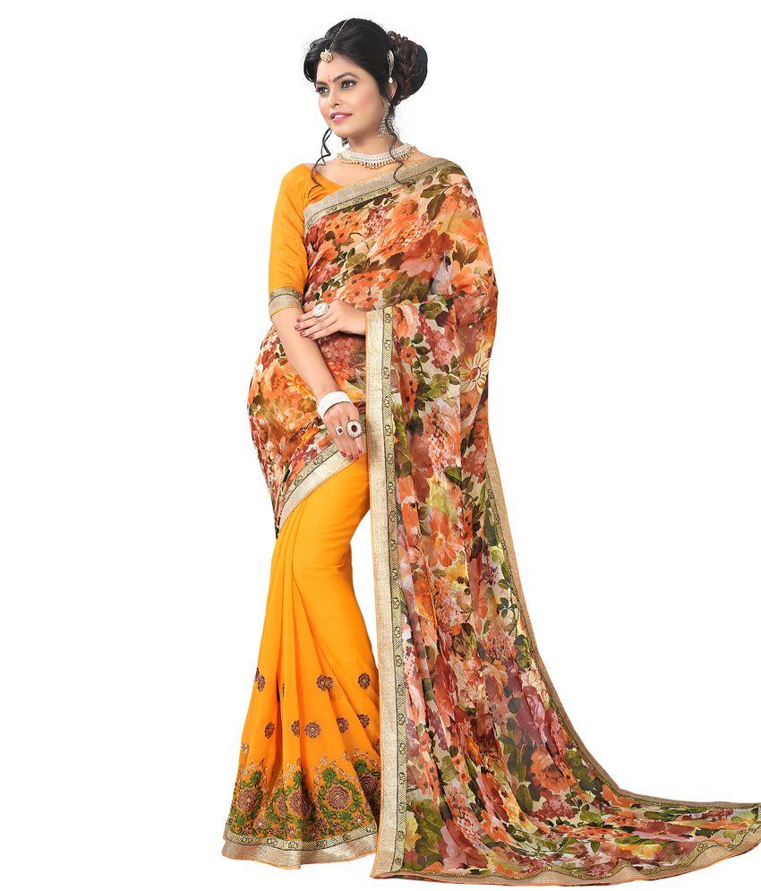 Varayu Multicoloured Georgette Saree