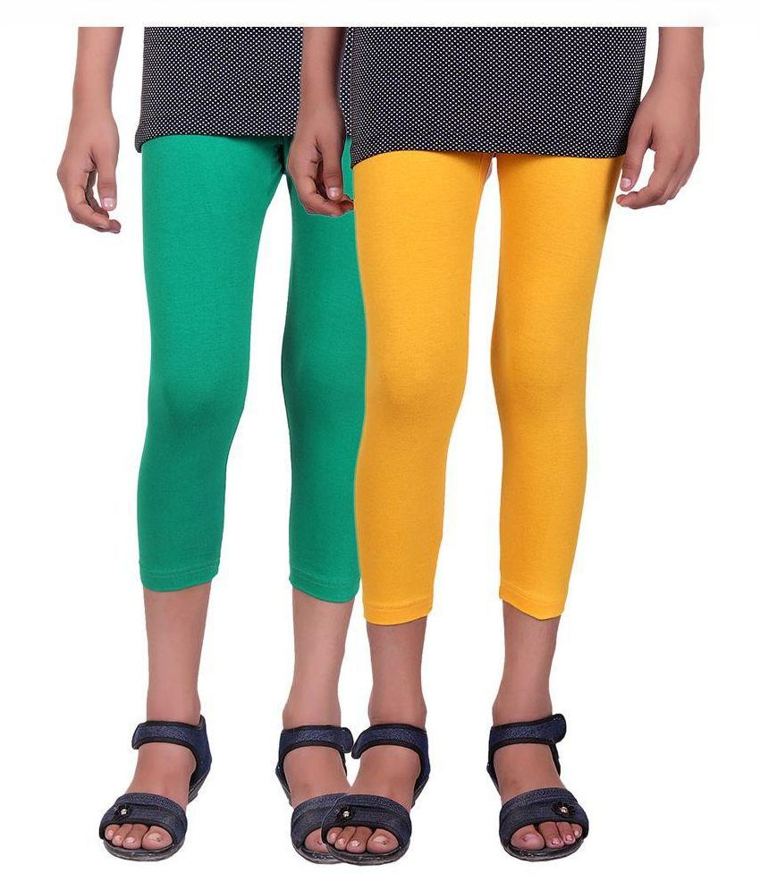 Alisha Multicolor Cotton Capri - Pack of 2