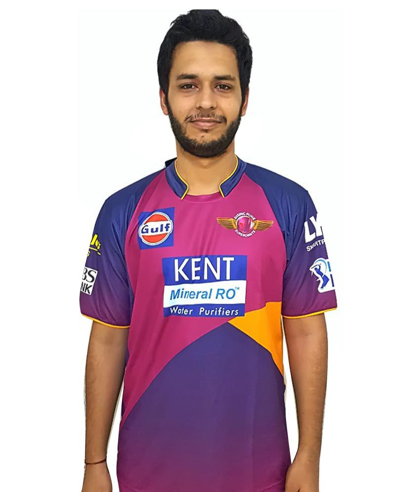 IPL T20 Rising Pune Supergiants Elite Player Jersey (Dhoni)