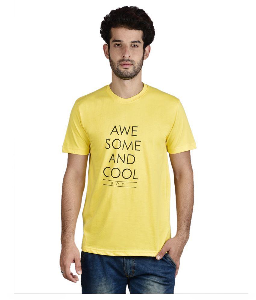 Menlo Yellow Round T Shirt