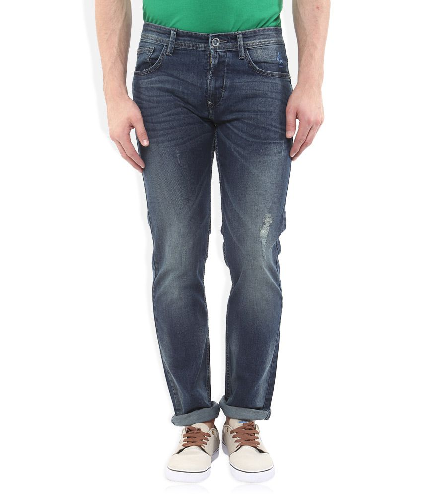 Monte Carlo Navy Blue Narrow Fit Jeans