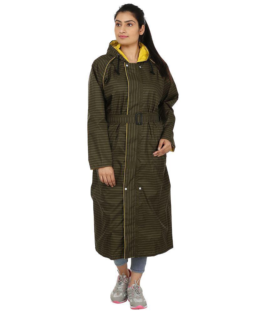 Rainfun Brown Full Sleeves Raincoat