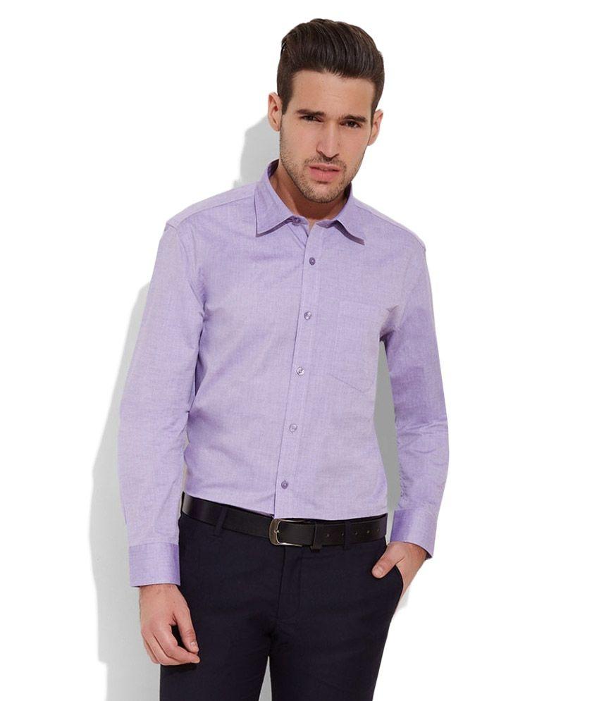 Urban Nomad Purple Formal Regular Fit Shirt