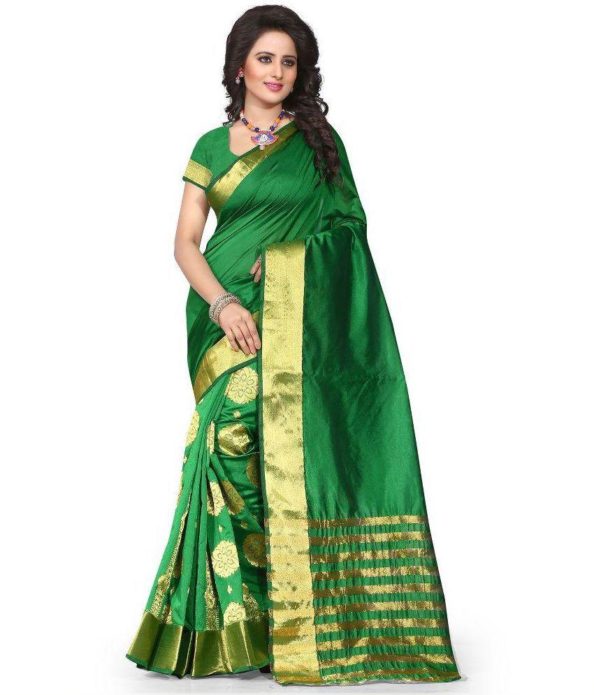 Stylefabs Green Cotton Saree
