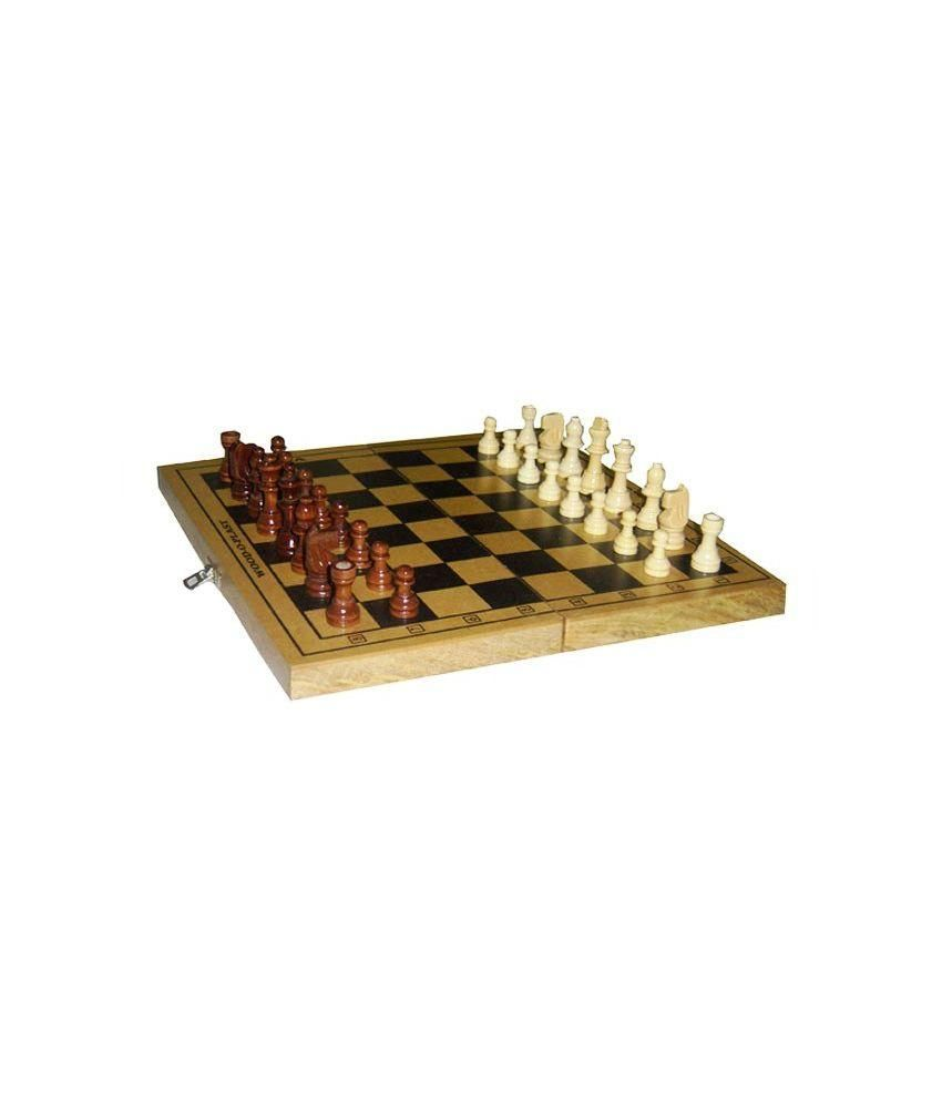 Wood O Plast Wood O Plast Brown and Black Wooden Chess Box Set