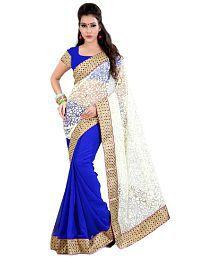 SareeShop Designer SareeS Blue Chiffon Saree