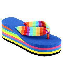 Shoe Lab Multi Color Platforms Heels