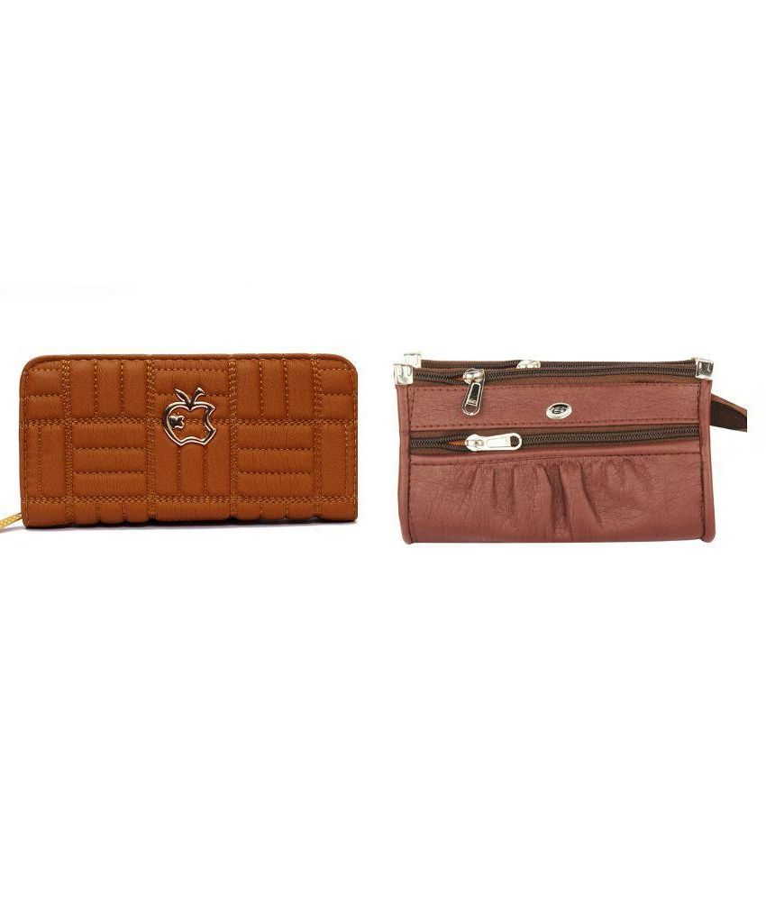 B & B Brown Wallet - Set of 2