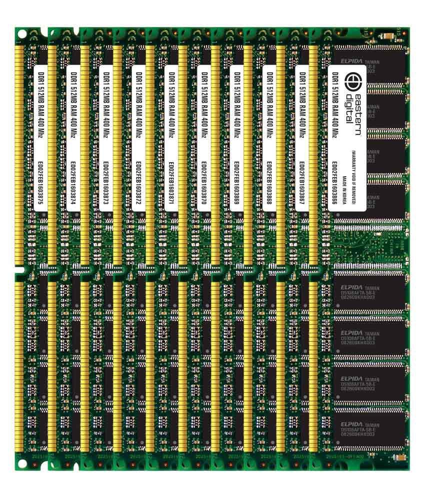 Eastern Digital Desktop Ddr1 Sdram 512 Mb 400 Mhz Pack Of 10 Ddr 1