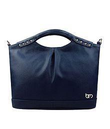 Bagy Malone Monotonic Blue Shoulder Bag