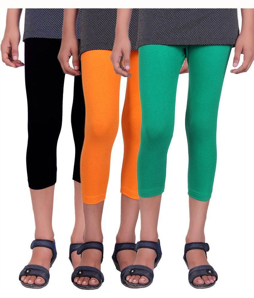 Alisha Multicolour Cotton Capris - Set of 3