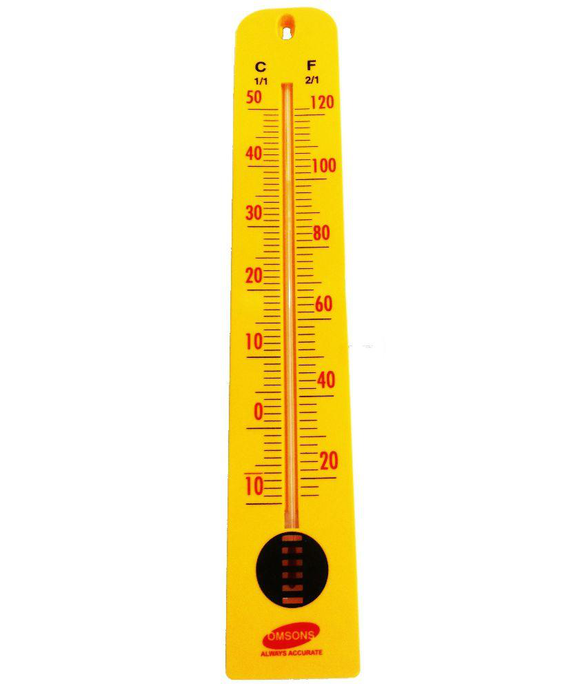 Omsons OS1226 Yellow Room Thermometer - Big : Buy Omsons OS1226 ...