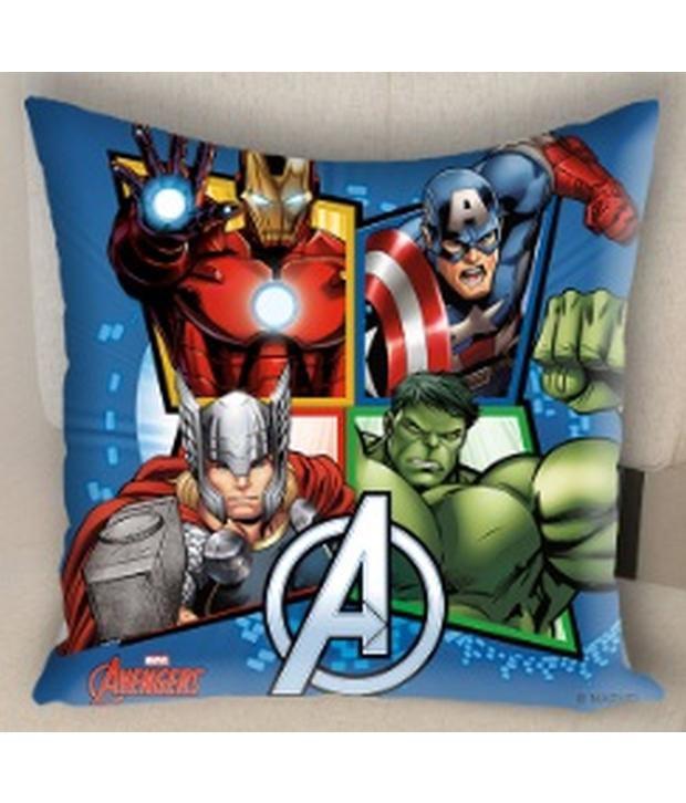marvel avengers cushion cover baby pillow buy marvel avengers rh snapdeal com