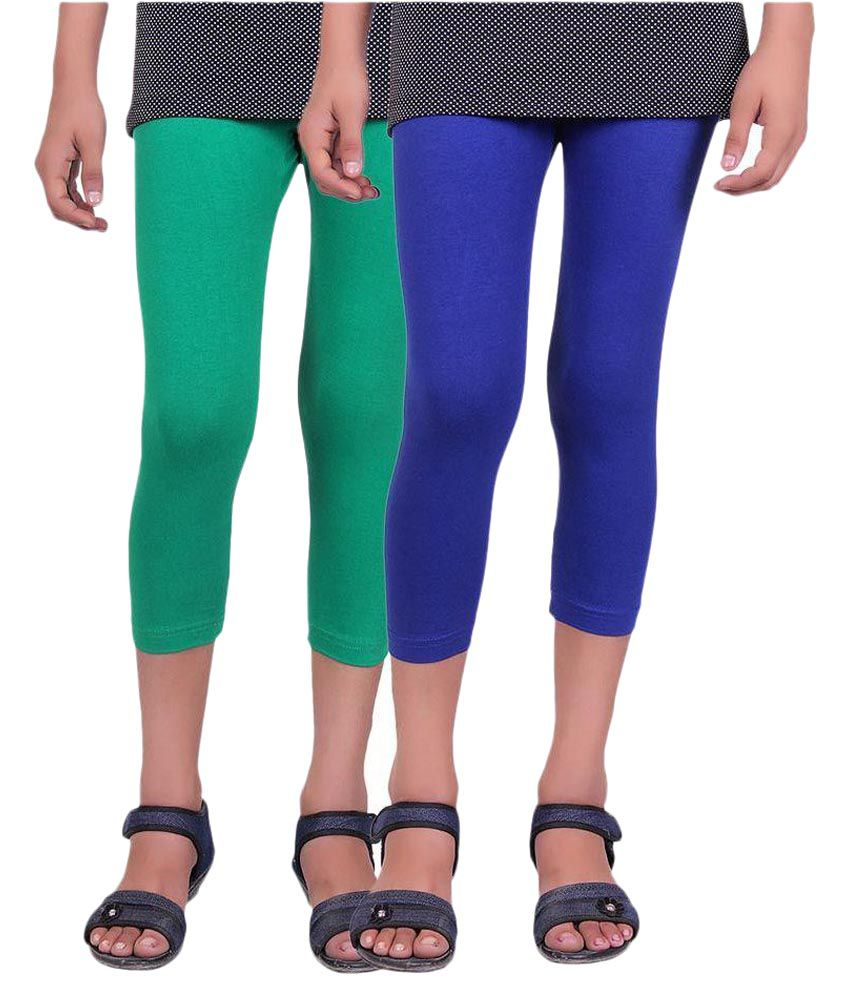 Alisha Multicolour Capri For Girls - Pack of 2