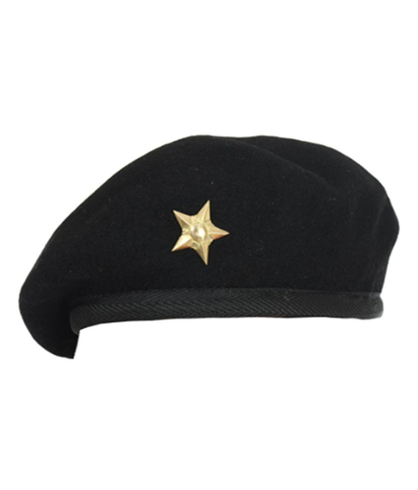 Angel Black Plain Wool Caps - Buy Online   Rs.  fd5a9159e342