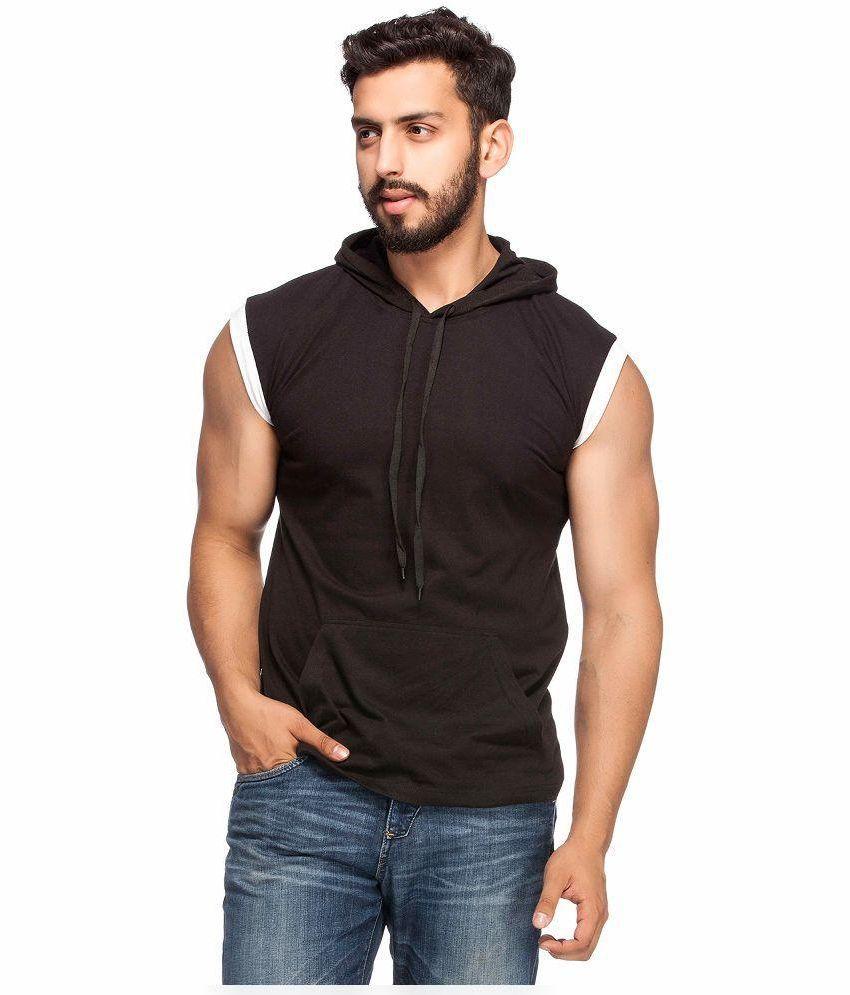 Demokrazy Black Hooded T Shirt