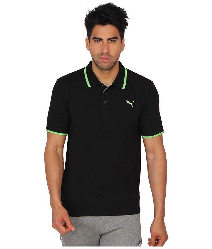 Puma Black Polo T Shirts
