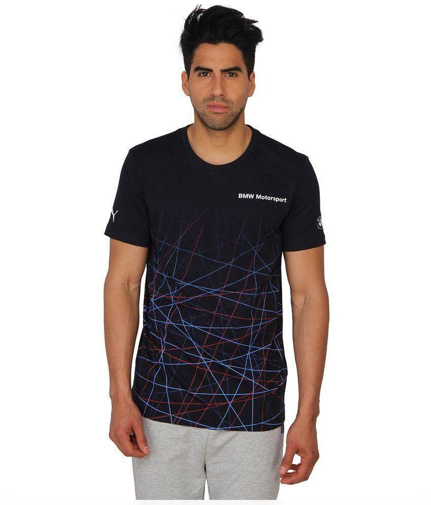 Puma Navy Round T Shirt